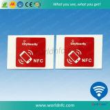 서류상 롤 자동 접착 RFID 스티커 꼬리표