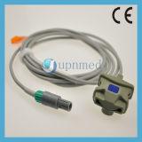 Sensor adulto do grampo SpO2 do dedo de Mindray Pm9000, 6pin, 2.8m