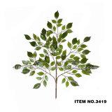 Оптовый искусственний вал баньяна выходит высокому качеству пластичные искусственние листья 3410