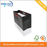 Sale chaud White et Black Handle Paper Shopping Bag (QY150011)