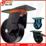 Ruedecillas de basura de servicio pesado con rueda de hierro dúctil
