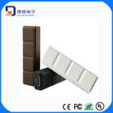 Côté portatif de pouvoir du modèle 2600mAh de chocolat