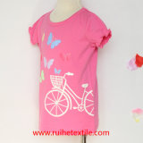 Cotone 100% Print Bike Short Sleeve T-Shirt per Girls