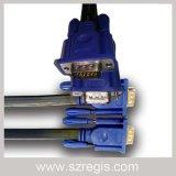 Vlakke 15dp Zuivere VGA van het Koper VGA3+6 Mannelijke Kabel voor Computer