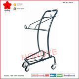 Double chariot à deux niveaux de chariot à achats de panier (OW-C3)