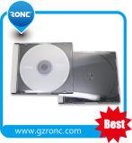Einzelne Seite 10.4 mm-CD Juwel-Kasten mit schwarzen Tellersegmenten