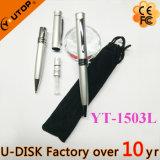Pluma de encargo popular del perfume del aerosol de la insignia con el bolso del terciopelo (YT-1502L)