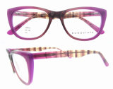 Bâti optique de lunettes de forme de plot réflectorisé de 2016 femmes de couturier