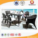 セットされる屋外の藤の家具の余暇の表および椅子(UL-501)