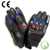 オートバイの手袋、カーボンファイバーの手袋、完全な指Golves