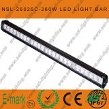 Diodo emissor de luz Driving Light Bar de 43 polegadas, diodo emissor de luz Driving Light de 4x4 260W, 10W CREE Light Bar, CREE Single Light Bar