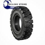 Neumático sólido 6.00-9 de la carretilla elevadora de la alta calidad de piedra del balanceo de China