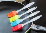 Balai pratique de catégorie alimentaire amical de BBQ de silicones d'Eco de couleur multiple