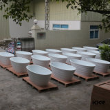 Kingkonree Wholesale Solid Artificial Surface Stone Bathtub