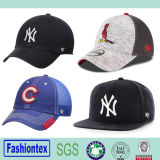Wholeasale 6 Panel-Stickerei-Hysteresen-Schutzkappen-Ineinander greifen-Baseballmütze-Baumwollbaseballmütze