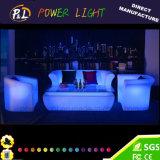 再充電可能なプラスチックラウンジの家具のリチウム電池LEDのソファーの家具