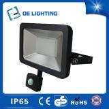 Luz de inundación de jardín LED delgada de 50W con sensor PIR