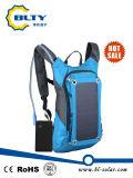 Im Freien angeschaltener Rucksack-SolarSonnenkollektor