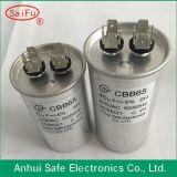 Encender el condensador cilíndrico dual de aluminio de la forma del enchufe Cbb65 del condensador
