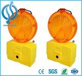 Янтарный и желтый предупредительный световой сигнал движения безопасности цвета внутри батарея 6V 4r25