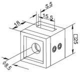 Montaggio di tubo del quadrato del supporto della crociera per la balaustra dell'inferriata della scala