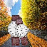 Relojes de alto grado de los pares del acero inoxidable, reloj 70030 del amante del cuarzo