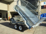 10X5 Hot Dipped Galvanized Hydraulic Tipping Trailer mit 600mm Height Cage