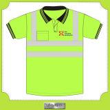 専門のWorkwearの交通安全のTシャツ(U-07)