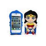 iPhone 4G/5g/6g Plusのための卸し売りSoft Cartoon Silicon Cell Phone Case