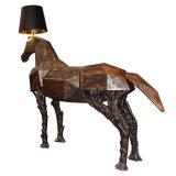 زجاج - ليف يعزّز بلاستيك حصان حجر السّامة [فلوور لمب] زخرفيّة ([كمف5866])