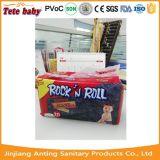 Propre usine remplaçable de couche-culotte de bébé de roulis de la roche N de modèle