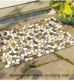 Черно/бело/смешал циновку камня пола цвета Handmade