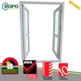 Portello di vetro triplice di vetro dell'oscillazione del doppio dell'isolamento termico di UPVC/PVC