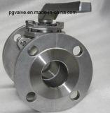 Tipo de flutuação válvula da bolacha do RUÍDO Pn16 Ss304 de esfera com a almofada de montagem ISO5211