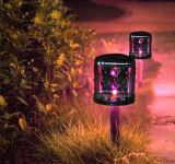 Farbige Rasen-Licht-Garten-Licht-im Freiensolarbeleuchtung