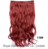 Clip de cheveu bouclé de prolonge de Remy de Vierge neuve de modèle dans la prolonge de cheveu