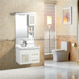 Ceramic Basin Bathroom Vanity를 가진 PVC Bathroom Sink Cabinets