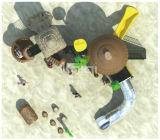 Kaiqi 활주, 식사 대 및 등반자와 가진 고전적인 고대 부족 시리즈 Kq60012A 상업적인 LLDPE 플라스틱 운동장