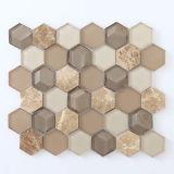 Mosaico de piedra de mármol cristalino/piedra de cristal de la mezcla del mosaico