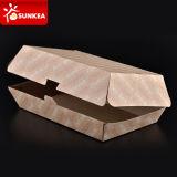 Boîte jetable à hamburger de papier d'aliments de préparation rapide