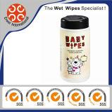 Wipes molhados do bebê sem álcôol do algodão da vasilha de Flushable