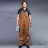 Bib и расчалка брюк Twill Dungarees работы строителей Mens тяжелый общие (BLY4002)
