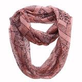 Dame-Form-Leopard gedruckter Polyester-Chiffon- Unbegrenztheits-Schal (YKY1113)