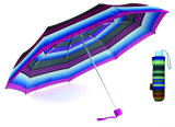 Falten-kompakter heller Aluminiumregenschirm des Streifen-3 (YS-3FM21083938R)