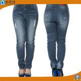 Neue Dame-Form-Baumwolle keucht dünne Legging Denim-Jeans