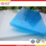 Doubles panneaux transparents de toit de patio de polycarbonate de mur à vendre