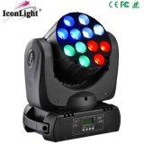 12X10W RGBW LED 단계 점화 (ICON-M061)를 위한 이동하는 맨 위 광속 빛