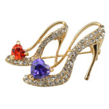 VAGULA Fashion High-Heel Shoe Rhinestone Brooch