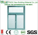 Ventana de desplazamiento de aluminio de la doble vidriera del estilo americano de Shangai Pnoc