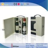 Вспомогательное оборудование вина случая вина 2 бутылок кожаный (5863R1)